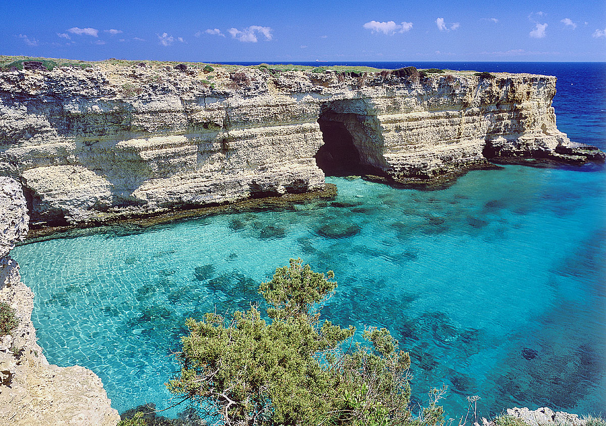 Italy, Apulia, Lecce district, Salentine Peninsula, Salento, Otranto, Travel Destination, Baia dei Turchi